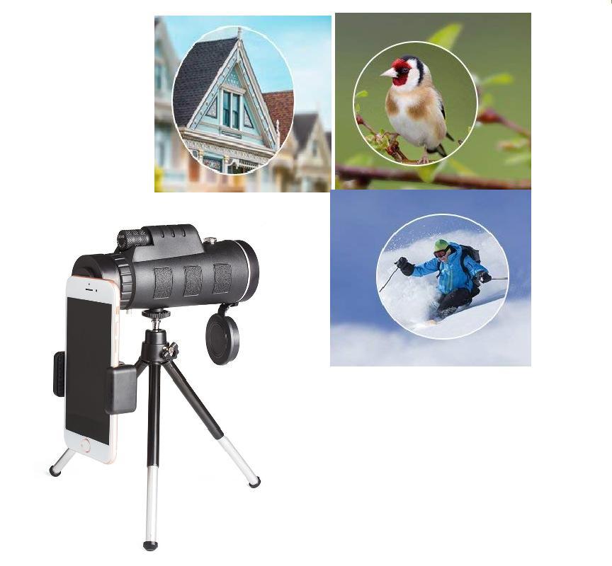 40X60 Zoom Monocular-Telescope+Tripod+Clip 4 Hunting Sports Events