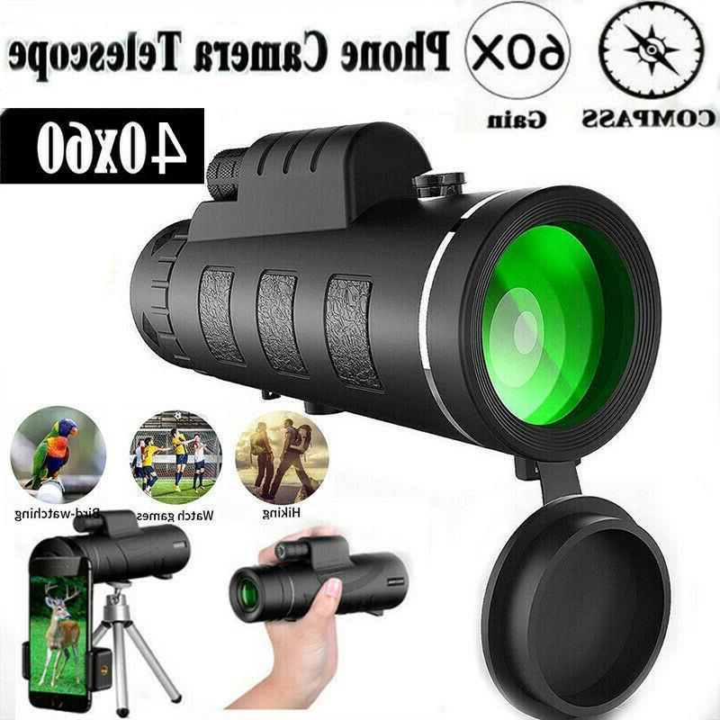 40x60 zoom optical hd monocular telescope tripod