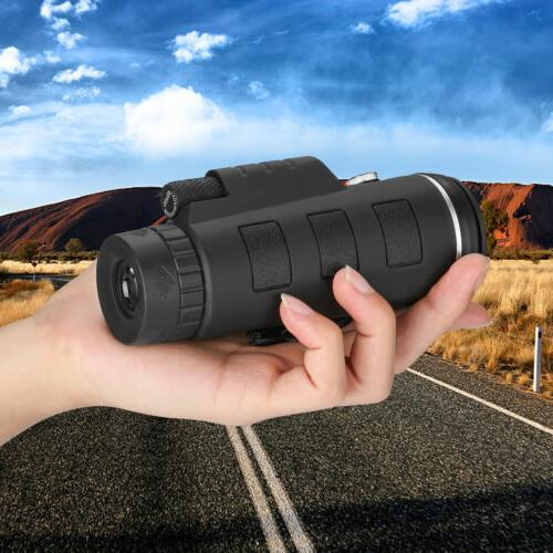 40X60 Monocular Telescope+Tripod+Clip Outdoor