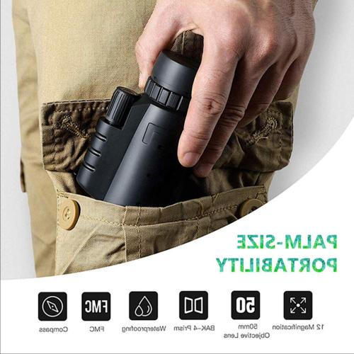 40X60 Zoom Optical HD Monocular for Travel Hunting