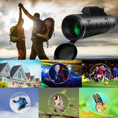 40X60 Zoom Monocular Telescope+Tripod+Clip Outdoor