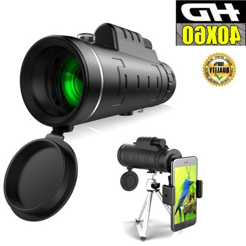 40x60 zoom optical hd night vision monocular