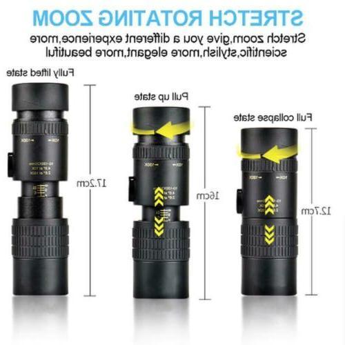 4K 10-300X40mm Super Telephoto Zoom Monocular Telescope Port