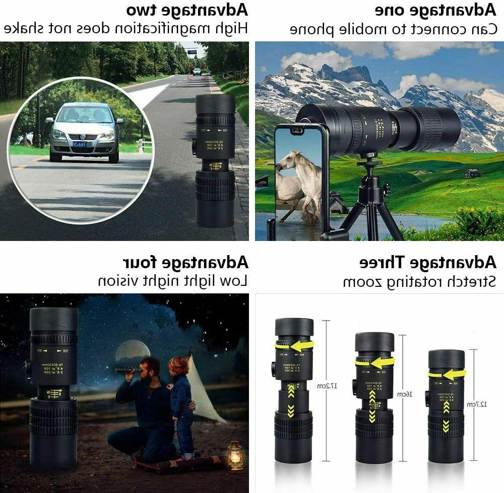 4K 10-300X40mm Zoom Telescope Binocular Night Vision