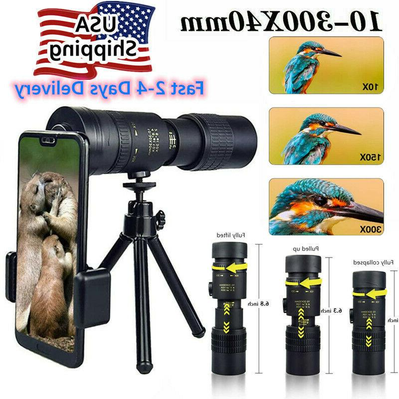 4k 10 300x40mm super telephoto zoom monocular