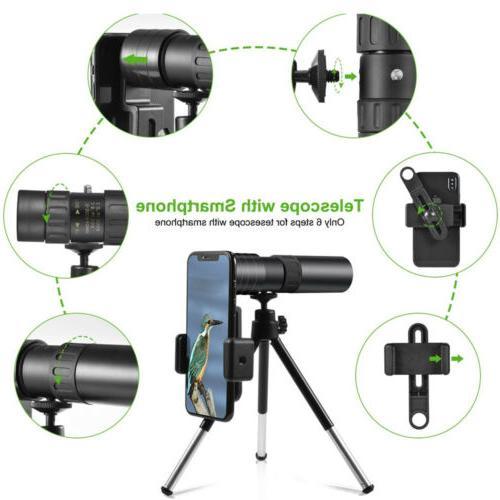 Zoom Portable Monocular w/Tripod Clip