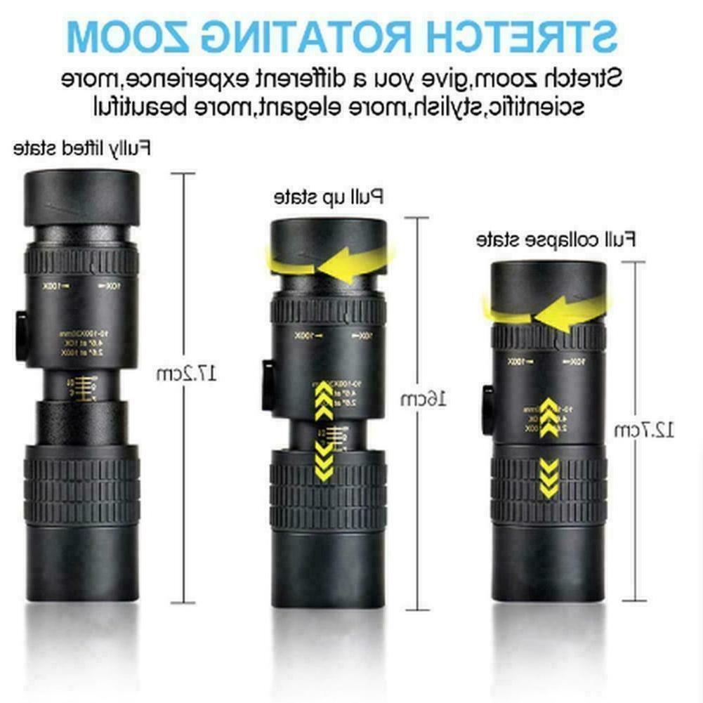 4k Zoom Monocular Optical