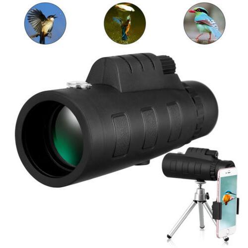 50x60 hd zoom monocular telescope w clip