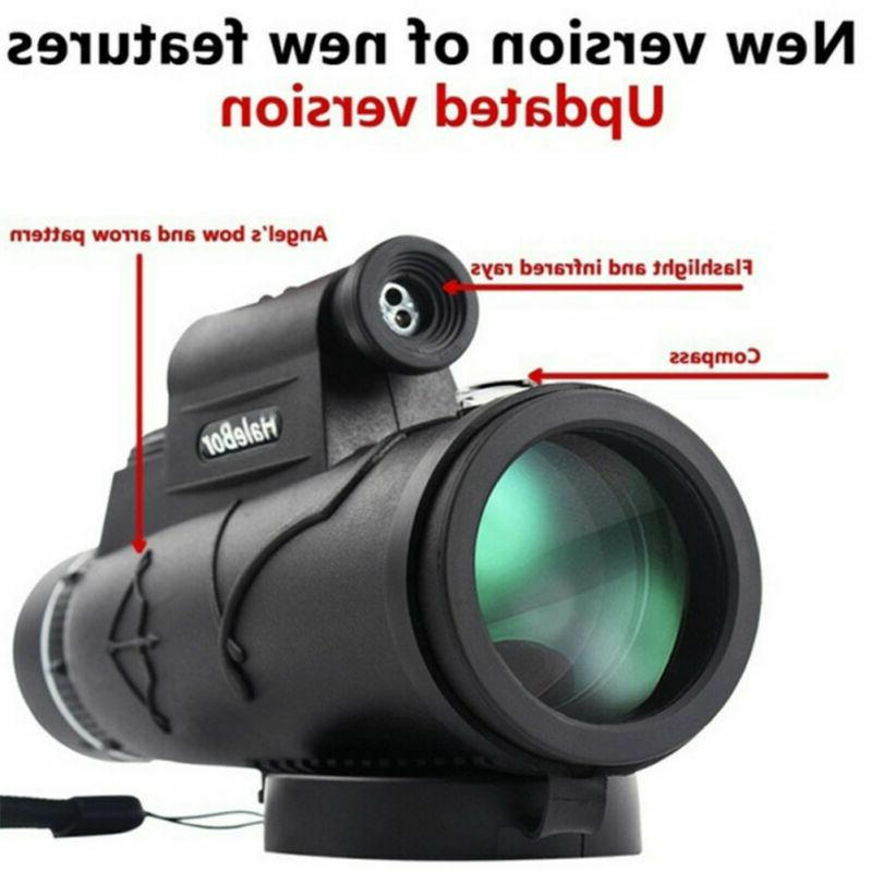 50x60 portable hd optical monocular telescope day