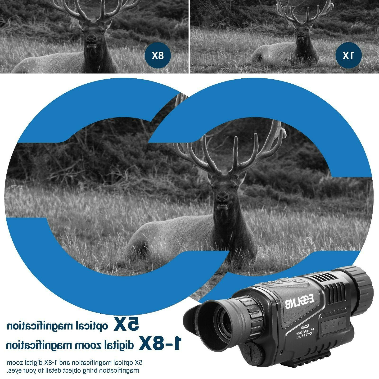 5X40 Vision Monocular Infrared IR with 16G Card