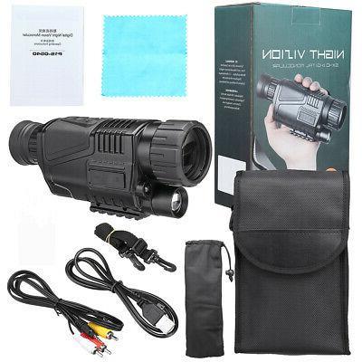 5x40 Infrared Vision Hunting Monocular Digital Video