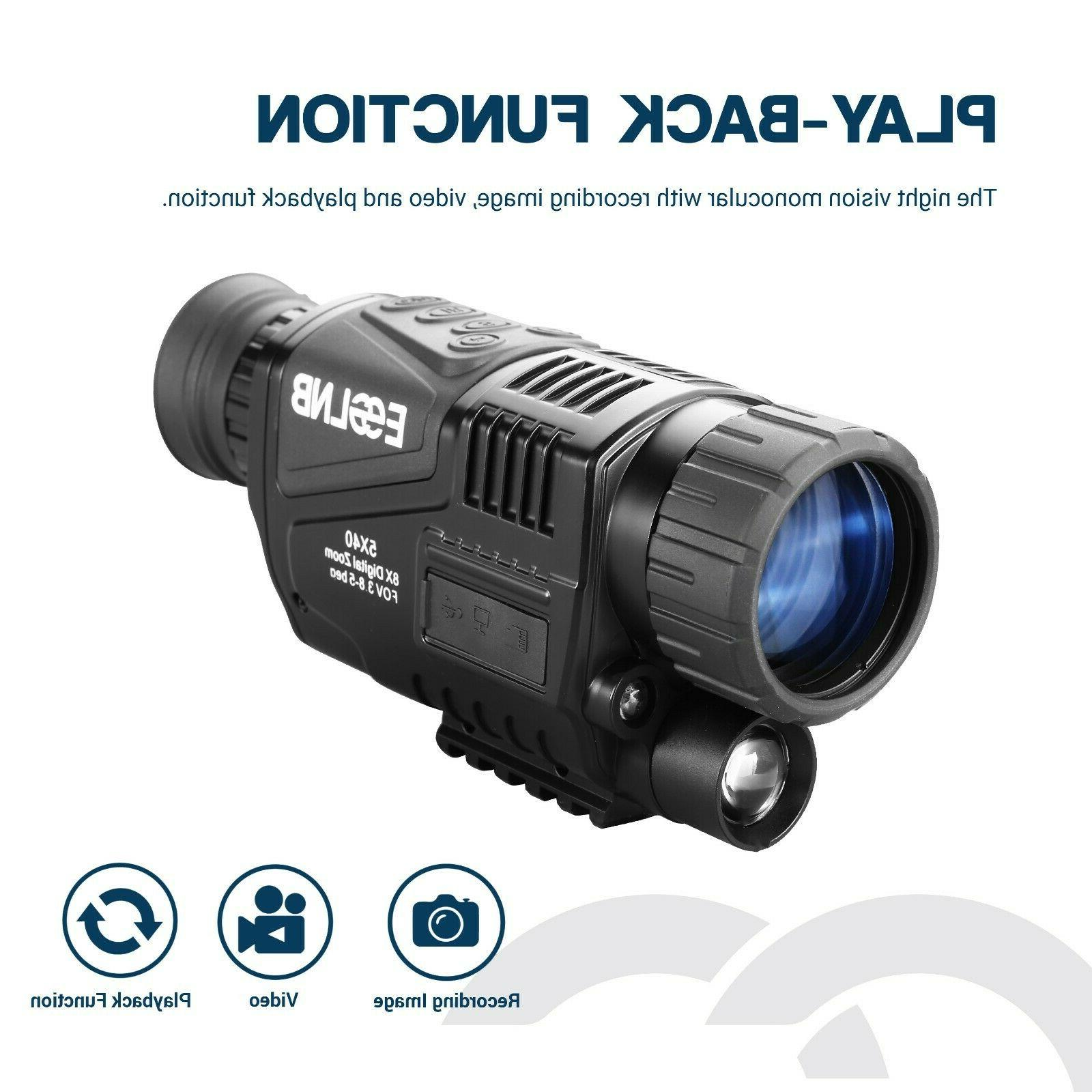 """5X40 Night Infrared HD with 1.5"""" 16G"""