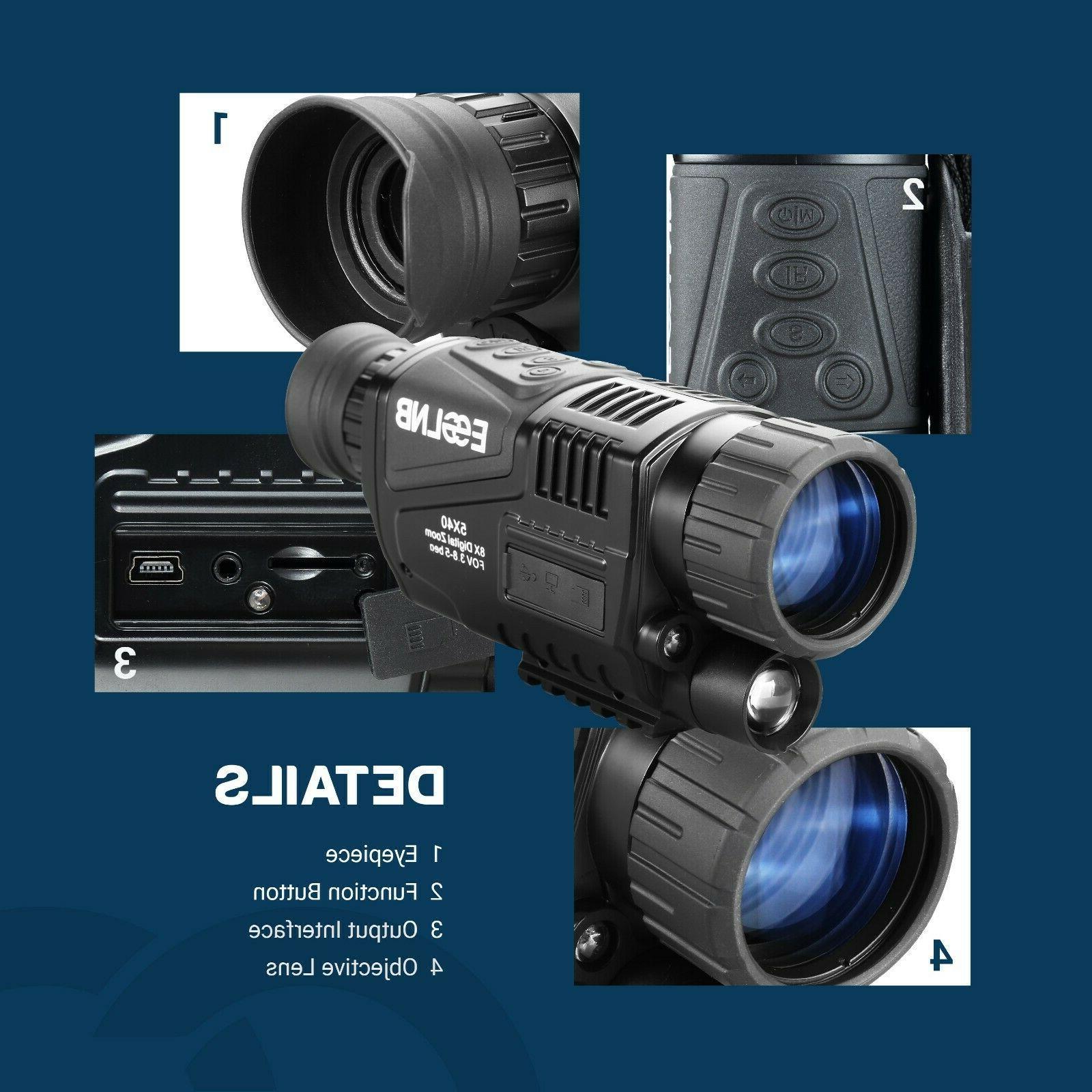 5X40 Vision Infrared IR Camera HD 16G