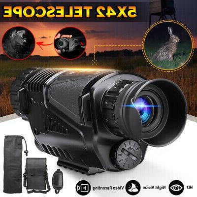5x42 zoom night vision infrared telescope camera