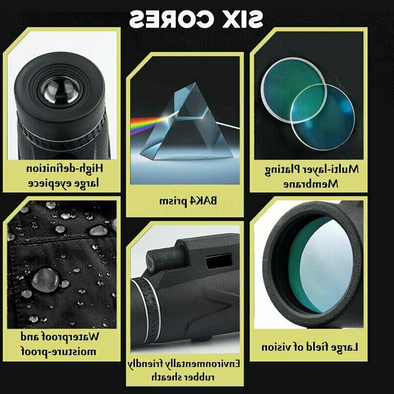 80X100 Monocular Prism HD Optical