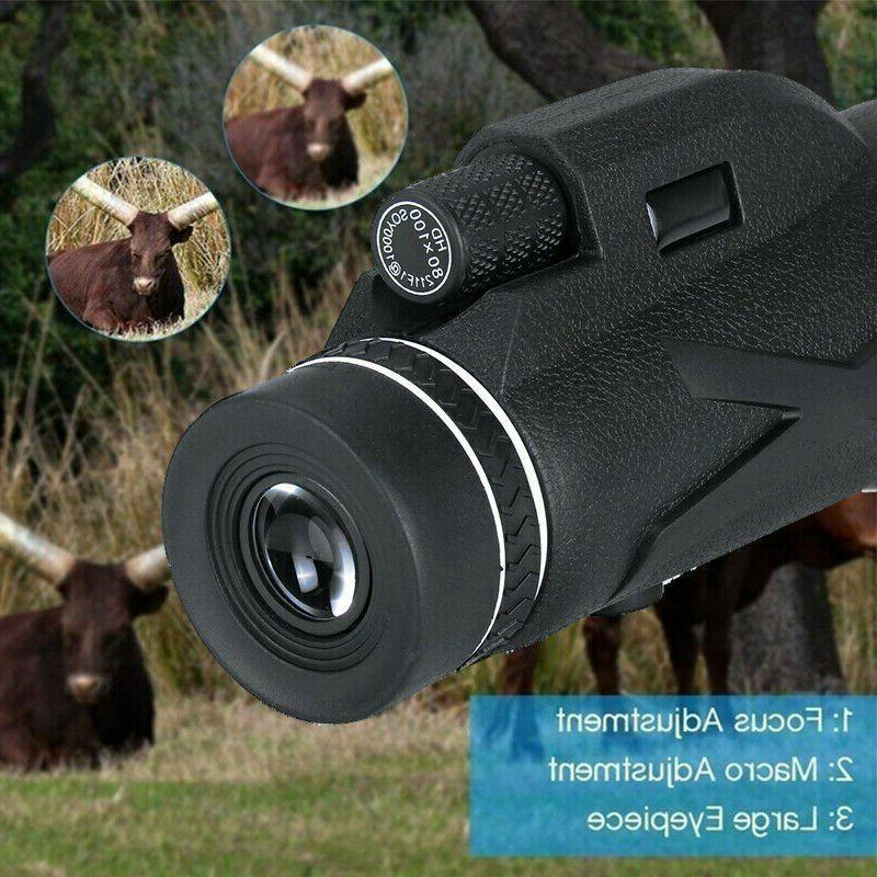 80X100 Monocular Telescope with Prism Optical