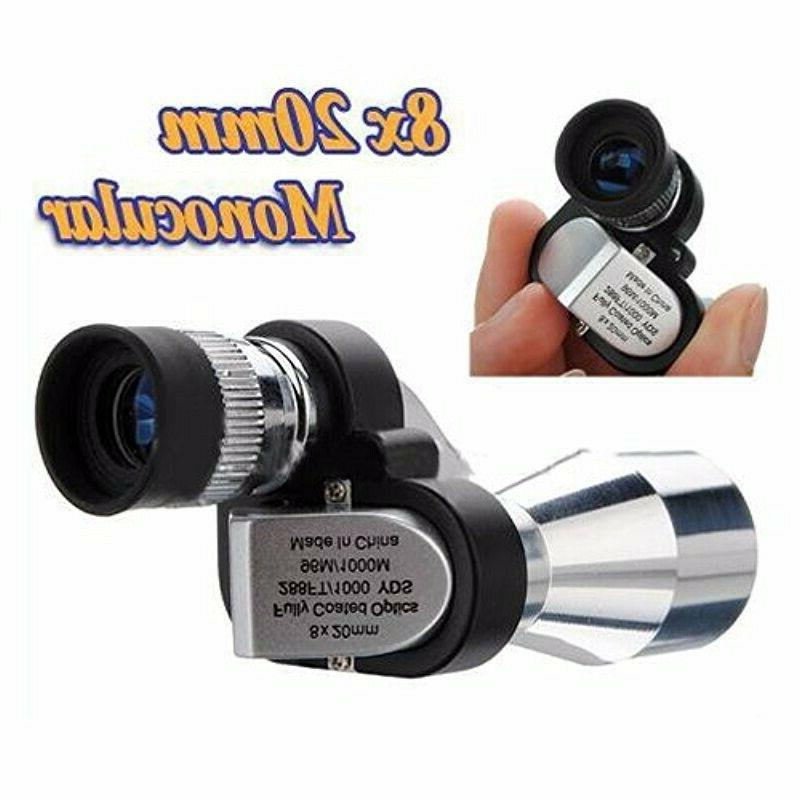 8X Mini Monocular Telescope for Outdoor Camping Hiking Green