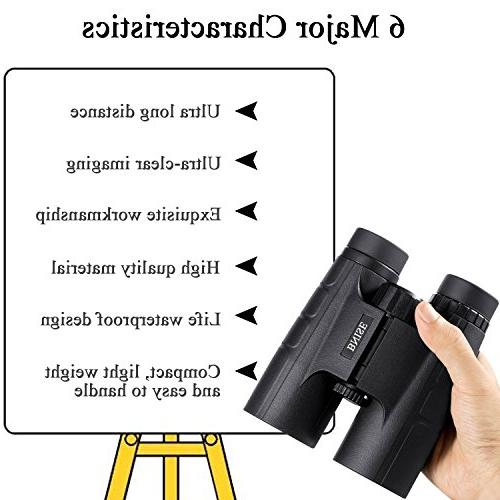 BNISE Binoculars Compact, BAK4 Prism Suitable Outdoor for Watching, Hunting, with Adapter