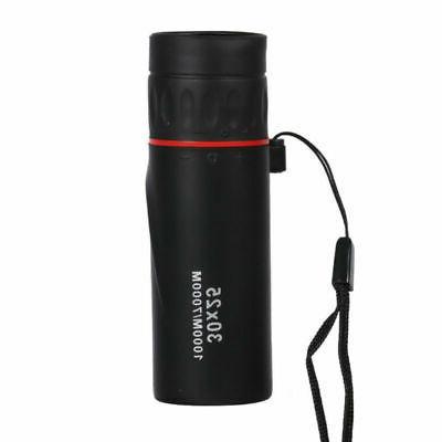 Black Mini Optical Monocular Night Vision Focus Telescope 10