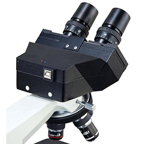 OMAX 3MP Camera Binocular LED Light with Double Layer Stage Condenser 3.0MP