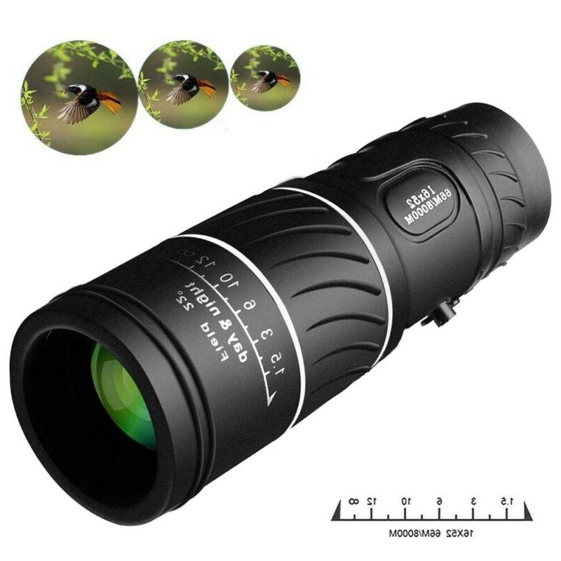 Day Night Vision16x52 HD Optical Monocular Hunting Camping H