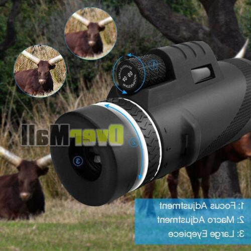 Day Night Vision 40X60 Optical Monocular Outdoor US