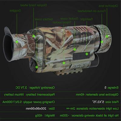 Digital Night Vision Zoom Hunting Camera Recorder