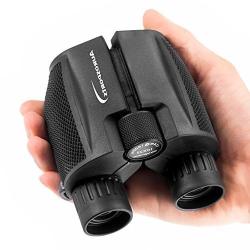 folding powered binoculars