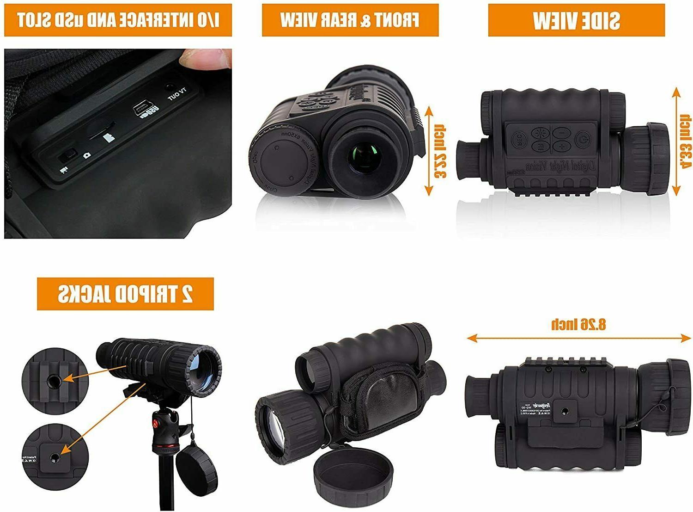 HD 1150 Digital Night Vision Infrared Monocular Black