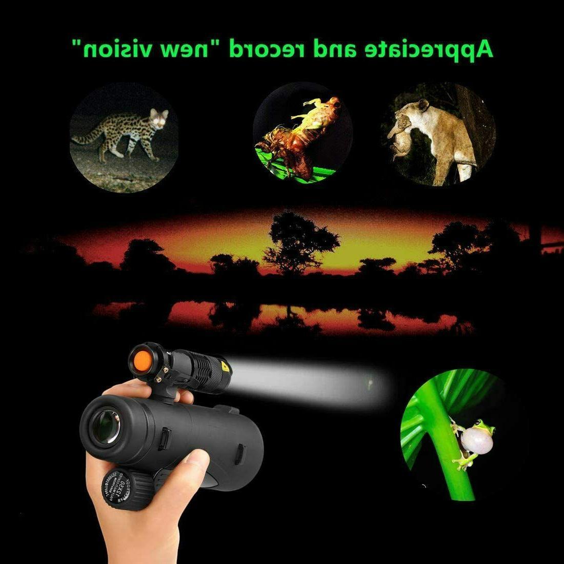 Flashlight Monocular Phone Camera Zoom ...at night