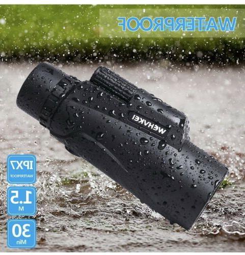 hd monocular telescope 12x50 zoom waterproof phone