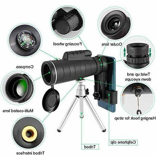 HD Monocular Phone Camera Starscope Hunting Mount