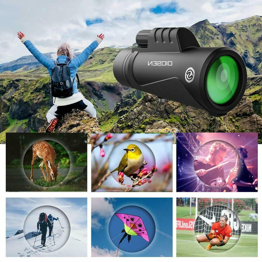 HD Monocular Telescope Camera Zoom Hunting Tripod