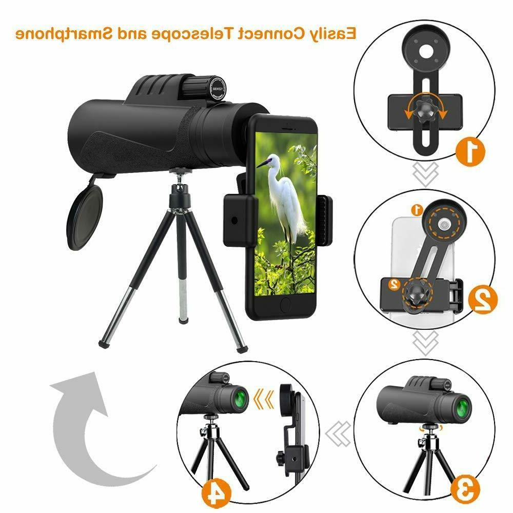 HD Monocular Telescope Camera Starscope Hunting Tripod Mount