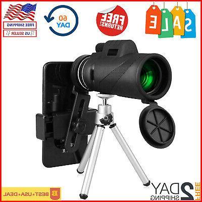 High Power Monocular Telescope For Phone Waterproof 40x60 HD