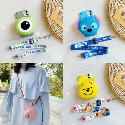 hot stitch wallet crossbody cute cartoon coin