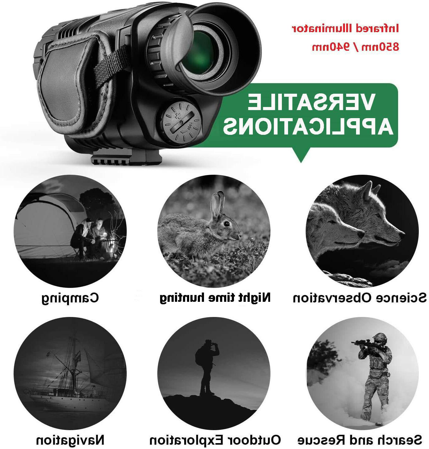 Night Vision camera surveillance outdoors