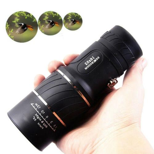 monocular 16x52 optics zoom lens camping hiking