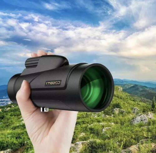 COSBITY Monocular, Coated HD Fog/Waterproof W/Cellphone-Adapter