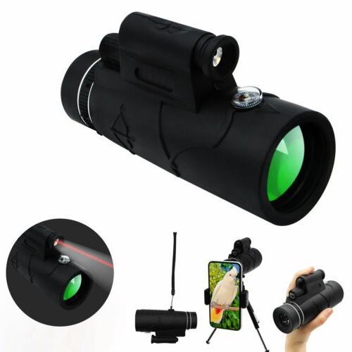 Monocular Zoom Lense+Tripod Bag Phone Mount USA