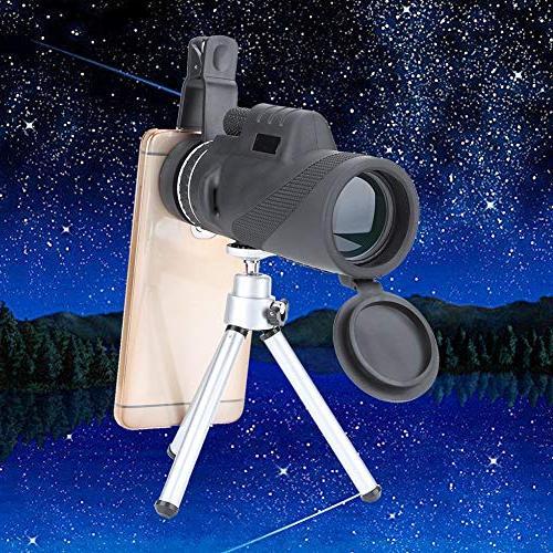 Filfeel Monocular Telescope, High Powered Phone Adapter and Tripod, Waterproof Fogproof BAK4 Focus Bird