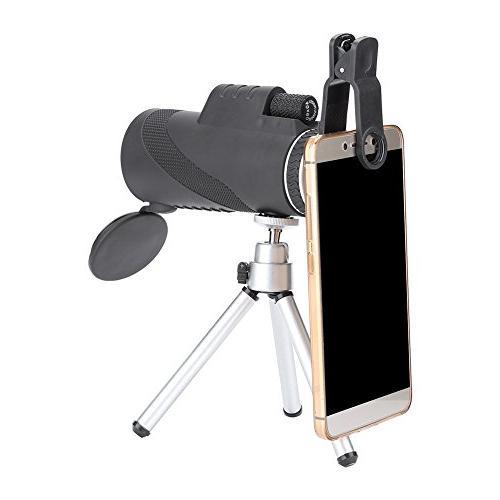 Filfeel Powered Monocular Phone and Waterproof Fogproof Optics FMC BAK4 Prisms, Single Focus Bird
