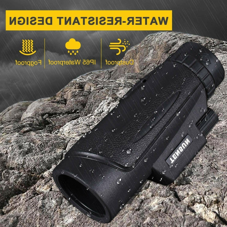 Monocular Telescope, 12x50 Power Universal Smartphone