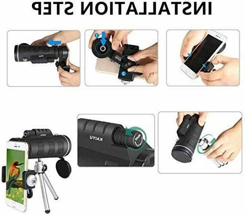 Monocular Telescope, 40X60 Power HD Smartphone & Trip