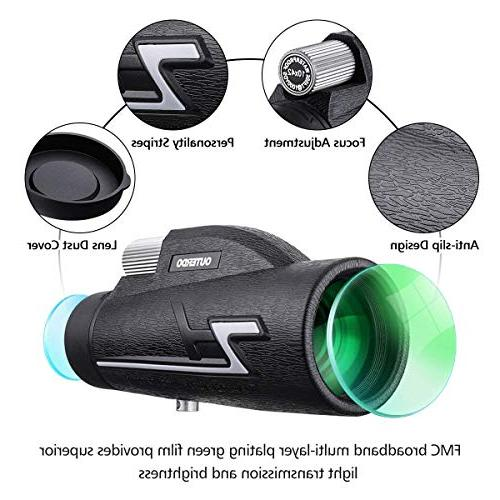 OUTERDO Monocular Telescope, 10 x Monoculars Phone- Focus- BAK-4 Prism FMC- Waterproof with Watching, Hunting, Hiking,Outdoor