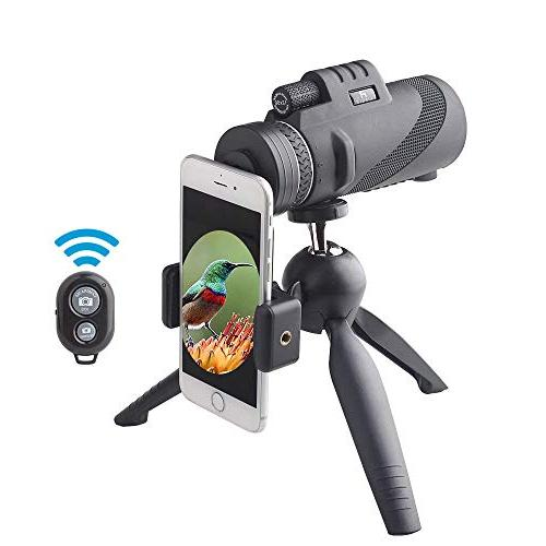 Monocular AIPNIS - Shockproof Fog-proof Low Light Night With Smartphone Mount Tripod - FMC for Watching Hiking