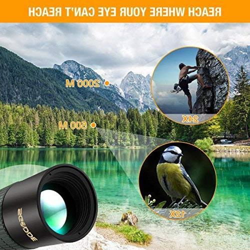 Monocular SGODDE Zoom Monocular Scopes- BAK4 with Smartphone for Bird Hiking