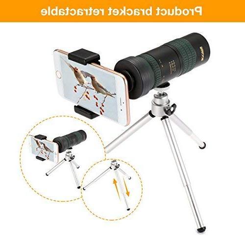 Monocular Telescope, Zoom Scopes- High Power, BAK4 Smartphone & for Bird Hiking