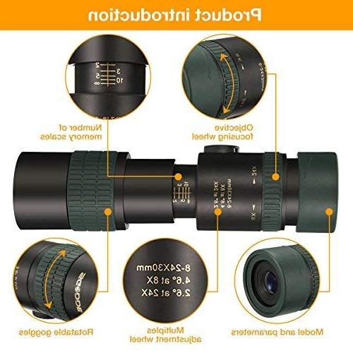Monocular SGODDE Zoom Focus Scopes- High BAK4 with Smartphone Adapter & for Bird Watching Hunting Hiking