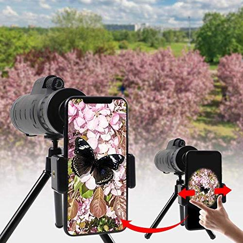 Monocular Optics 40x60 - High BAK4 with Mount Perfect Adults, Concerts